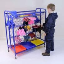 Large Welly Boot Storage Trolley