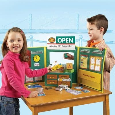 Learning Resources Pretend & Play Post Office Set,Pretend play post office,Children's post office toy,Pretend play shop,pretend play cash register,pretend play shopping till