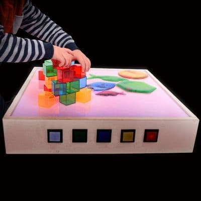 Light Table With Sand Table Top,Sensory light panel,round light panel, school resources, resources for children, reception resources