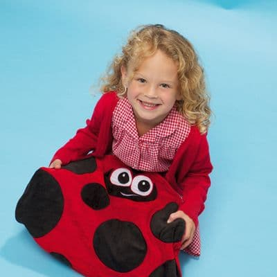 Louis The Ladybird Lap Weight,sensory lap weights,lap weights,special needs weighted lap pad,weighted lap pad