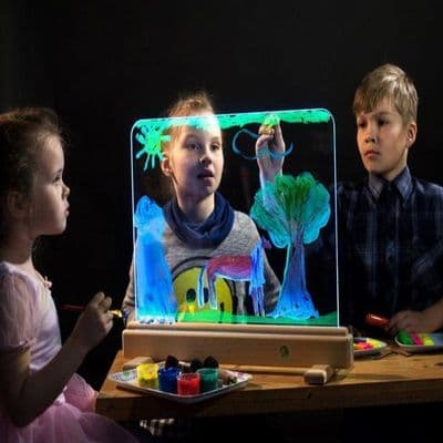 Magic Light Easel,Sensory Light Easel,light panel, school resources, resources for children, reception resources