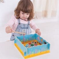 Magnetic Fishing Game with Base