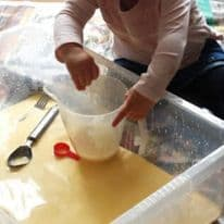 Messy Play Custard