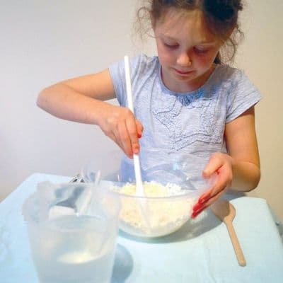 Sensory soap flakes,messy play ideas,childrens messy play soap flakes