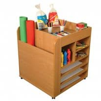 Mobile Art Supplies Storage Unit