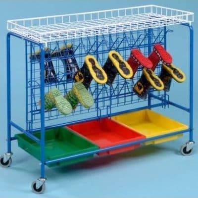Mobile Wellie Storage Trolley,Wellington Boot Holder,School Wellington  Boot Holder,school classroom resources