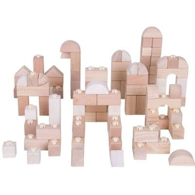 Natural Click Blocks (100 Pieces),Click blocks,Bigjigs click blocks,wooden blocks,sensory blocks,wooden sensory blocks