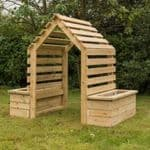 Outdoor Wooden Archway Planter