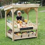 Outdoor Wooden Role Play Market Stall Unit