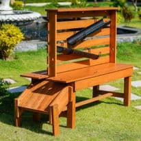 Outdoor Wooden Stem Table And Slide