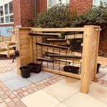 Outdoor Wooden Water Channelling Unit