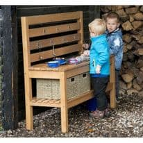 Outdoor Wooden Waterplay Messy Kitchen