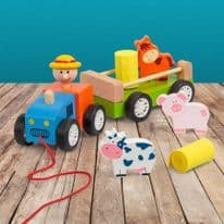 Pull along Tractor Toy