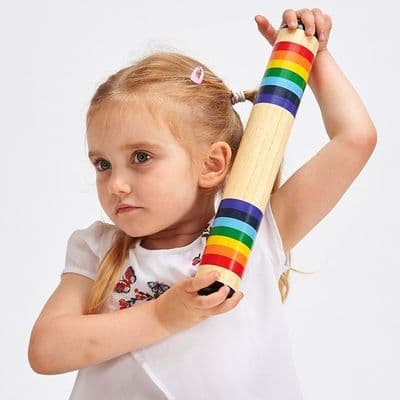 Rainbow Wooden Rainmaker,,Special Needs Toys, Rainstick, Baby rainmaker, Sensory instruments, auditory skills, musical instruments for children with special needs