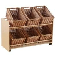 Rookie Open Mobile Basket Shelf  With Large Volume Baskets