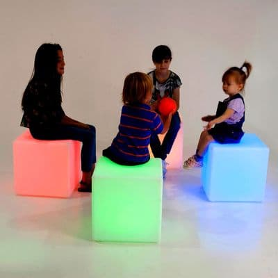 Sensory Mood Cube,led cube,led seat cube,seat led light,light up seat,special needs seating,special needs seat