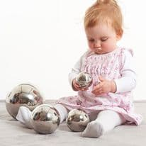 Sensory Reflective Balls Silver Pack of 4