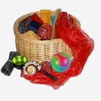 Sensory Treasure Basket Light and Sparkle