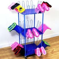 Small Mobile 24 Pair Wellington Boot Holder