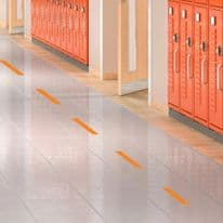 Social Distancing Floor Decals - Dashes