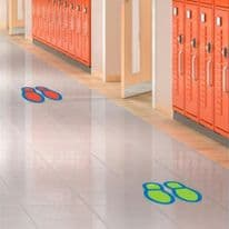 Social Distancing Floor Decals - Footprints