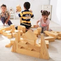 Soft Wood Effect Foam Blocks 56pk