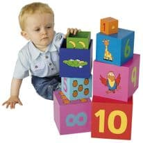 Tidlo Rainbow Stacking Cubes