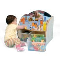 Toddler Mirrored Unit With Trays