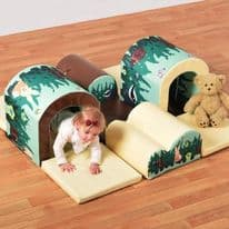 Toddler Tunnels & Bumps Soft Play Set Woodland