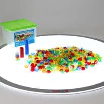 Translucent Stackable Counters 500 Piece