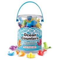 Under the Sea Ocean Counters Set of 72