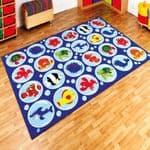 Under the Sea Rectangular Placement Carpet
