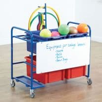 Whiteboard PE Storage Trolley