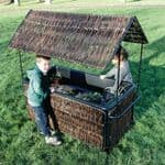 Wicker Water Tray And Shelter With Tray