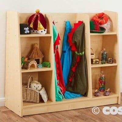 Wide  Dressing Up Unit,Basic Dress Up Trolley,Basic Dress-up Trolley ,Childrens dressing up storage,Children's fancy dress storage,Early years dressing up storage equipment