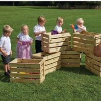 Wooden Crates Pack of six