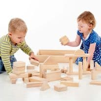 Wooden Jumbo Block Set  Pk54