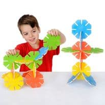 Wooden Octoplay Bright Colours - 20 pieces