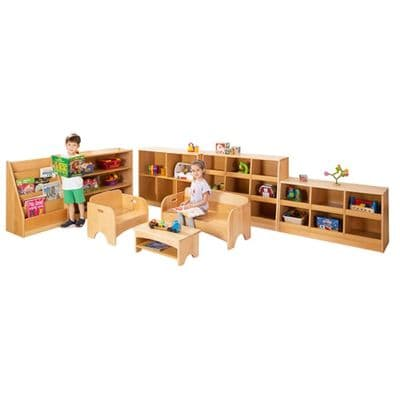 Zona General Storage and Seating Set,Playscapes Imagination Zone,classroom art equipment,Classroom furniture,classroom wooden storage equipment