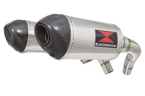 ST1100 (SC26) Pan European Exhaust Silencers 200mm Oval Stainless Carbon Tips