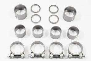 GSX1400 4-2 Full Exhaust Gasket Seals Rings & Clamps Kit 6