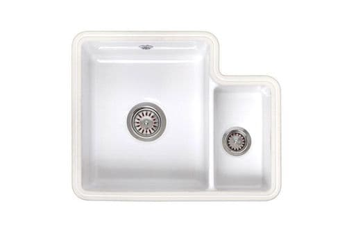 River range - Witham - Ceramic White Undermount Sink One bowl 545mm x 440mm