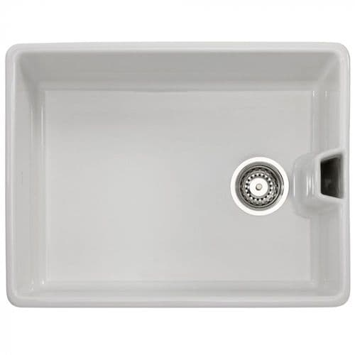 Tuscan Belfast Sink - One Sit in Bowl - White Gloss Cermaic - TS101