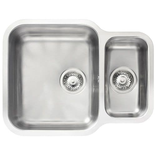 Tuscan Florence  Sink - Stainless Steel - One and a Half Bowl Undermount Sink - TS122 Reversible