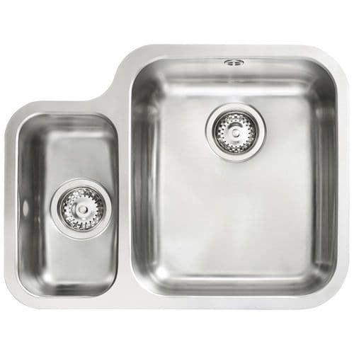 Tuscan Florence  Sink - Stainless Steel - One and a Half Bowl Undermount Sink - TS128 LH Small Bowl