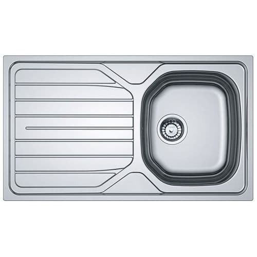 Tuscan Verslia  Sink - Polished Stainless Steel - One Bowl Inset Reversible Sink - TS131